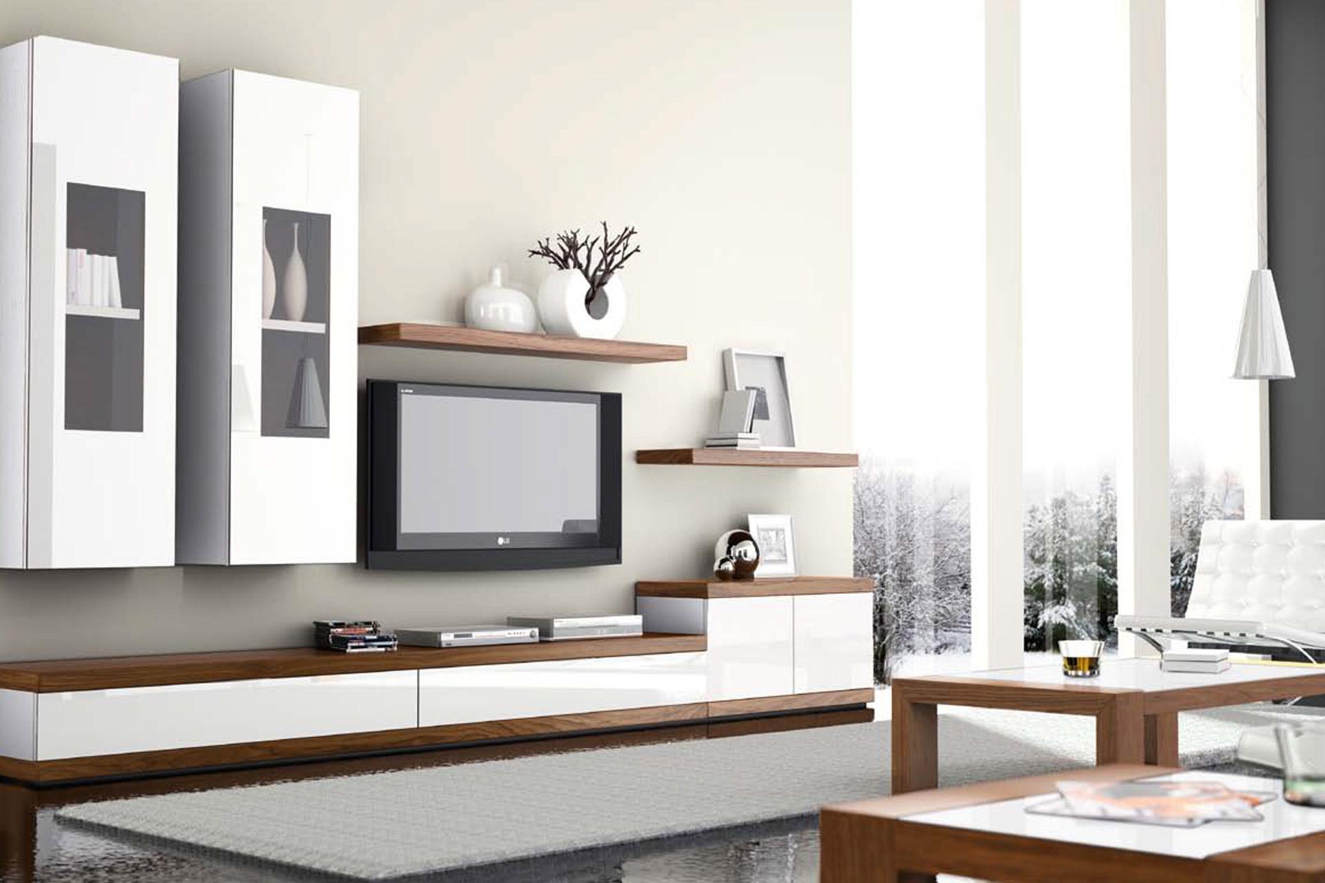 mesa en blanco y madera